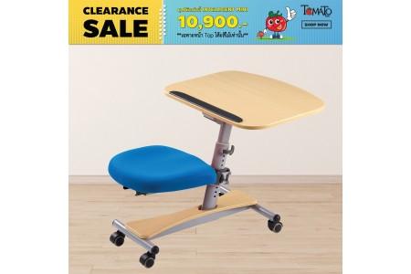 *โต๊ะเด็ก Intelligent Mini - สีเมเปิ้ล (เก้าอี้น้ำเงิน)