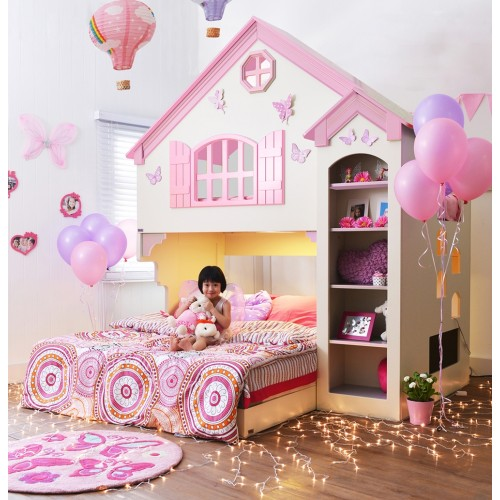 เตียงบ้านตุ๊กตาสองชั้น Aurora (ไม่รวมฐานเตียง 5 ฟุต)