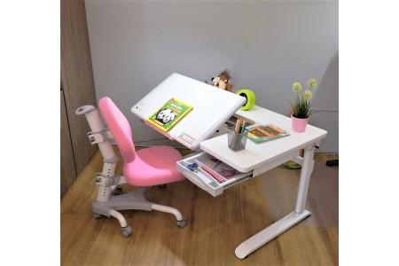 ชุดโต๊ะทำการบ้าน Ledison (โต๊ะสีขาว)