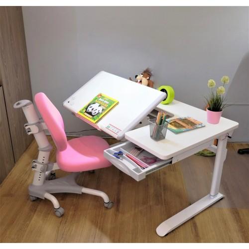 *ชุดโต๊ะทำการบ้าน Ledison (โต๊ะสีขาว)