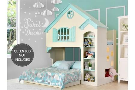 เตียงบ้านตุ๊กตาสองชั้น Sweet (ไม่รวมฐานเตียง 5 ฟุต)