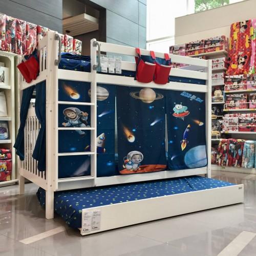 เตียงสองชั้น Galaxy Youth ขนาด3.5ฟุต + ผ้าม่าน + เตียงเสริม