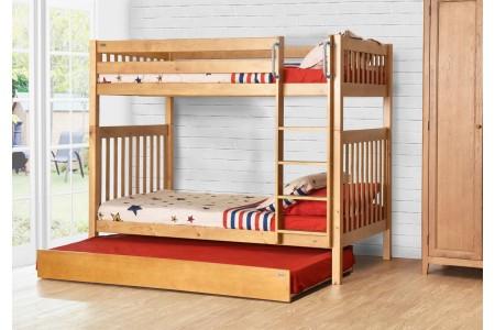 .เตียงสองชั้น Youth Bunk ขนาด 3.5ฟุต + เตียงเสริม