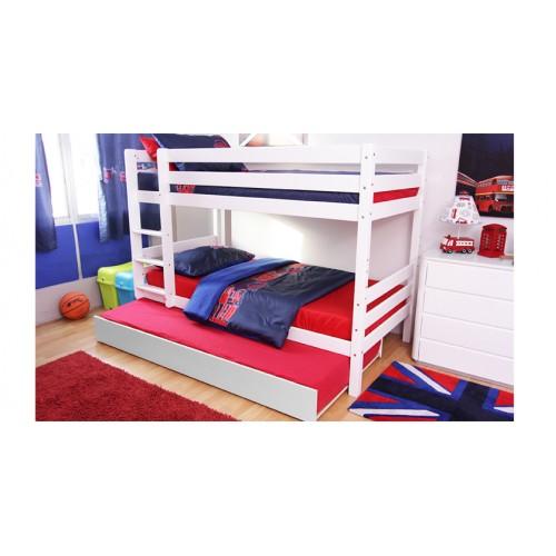 .เตียงสองชั้นแบบต่ำ Archie ขนาด 3.5ฟุต + เตียงเลื่อน