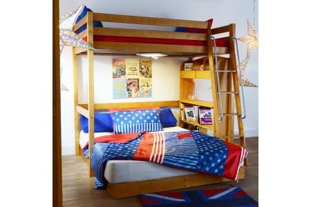 เตียงสูง ชุด A (สีโอ๊ค)