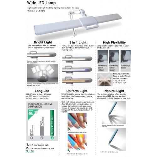 โคมไฟ LED ถนอมสายตา (ปรับได้ 3 สี)