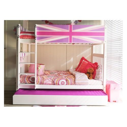 เตียงสองชั้นลาย - Union Jack Pink ขนาด3.5ฟุต + เตียงเสริม