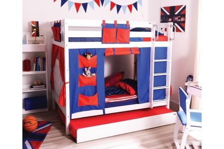 เตียงสองชั้น Milo Youth ขนาด3.5ฟุต + ผ้าม่าน + เตียงเสริม